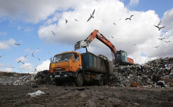 Загрузка отходов для утилизации