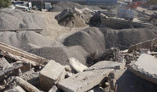 Переработка бетона в гравий
