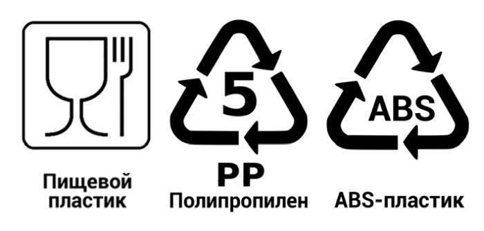 пищевой пластик маркировка