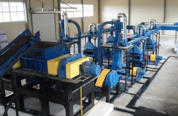 оборудование для производства резиновой крошки