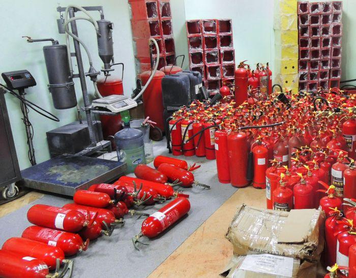 куда сдать огнетушители